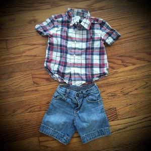 Ralph Lauren Button up old Navy shorts 12-18 month